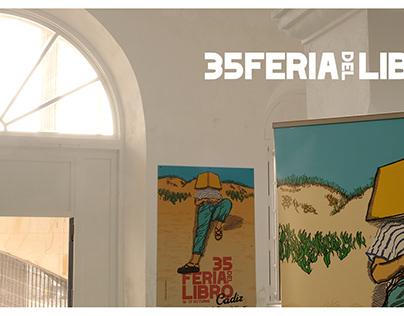 Cartel oficial para la 35 edición de la Feria del Libro