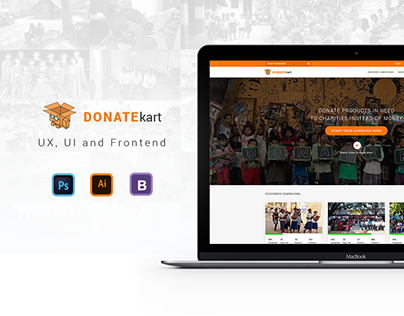 Donatekart Website Design - India