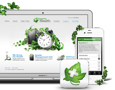 Green Ivy, website and mobile app