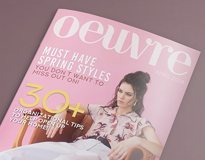 Oeuvre - Magazine Cover Design