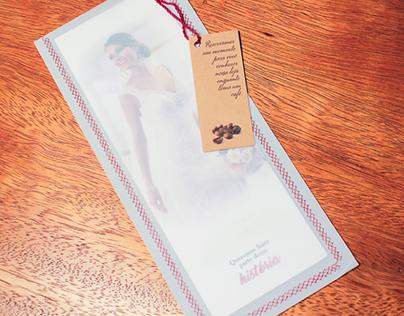 Convite com costura em papel vegetal - Solugrav