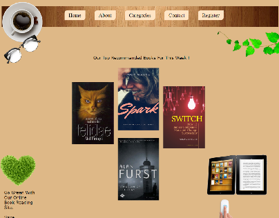 Online Book Reading Site Homepage