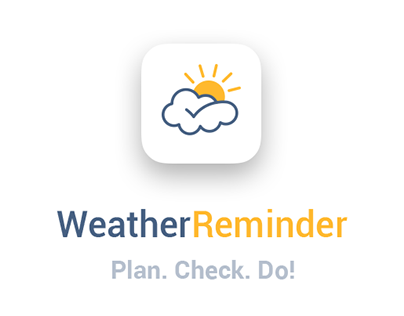Weather Reminder mobile app