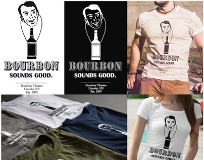 T-Shirt design for Bourbon Theatre