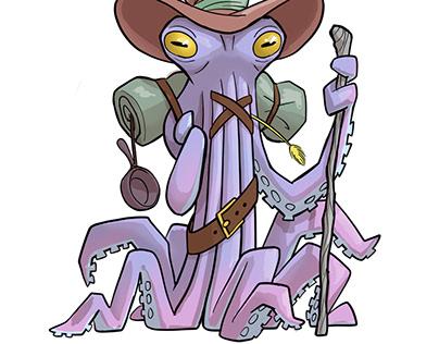 Fresco: Mountain Octopus