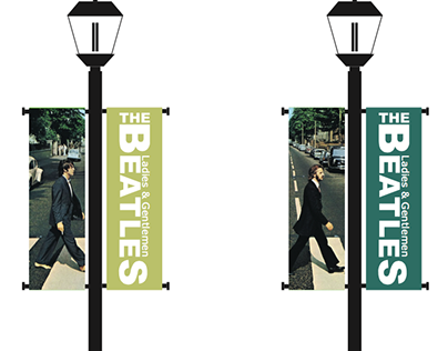 The Beatles Pole Banners