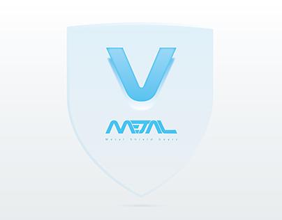 V - Metal Shield Gears (Logo)