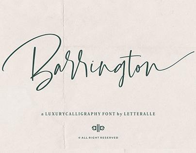 Free Barrington Calligraphy Font