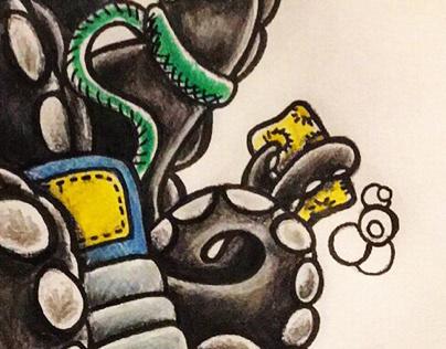 Clean kicks! Hand drawn::