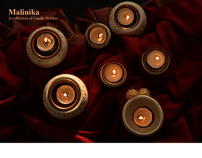 Malinika - Collection of Candle Holders