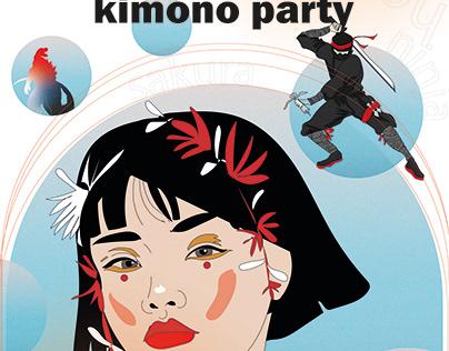 KImono party poster