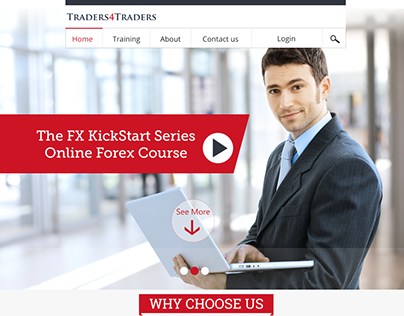 Traders Landing page