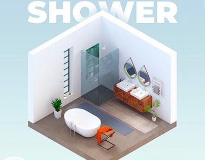 "Panel for a shower cabin ""smart shower"""