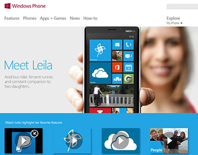 Windows Phone 8 Website Design