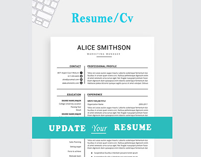 Resume template, Professional resume 3 page resume