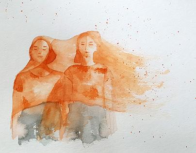 Wind Watercolor
