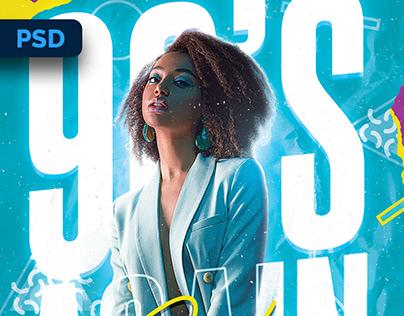 90s Club Flyer - PSD Template