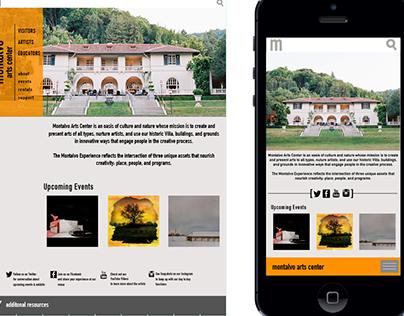Villa Montalvo Website Redesign