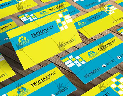 Yellow&Blue Business Card – Free PSD Template