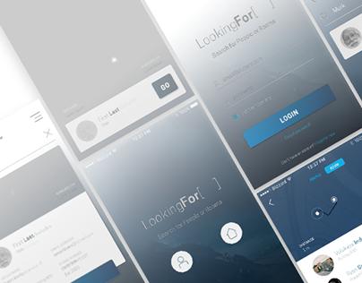 Concept: LookingFor App