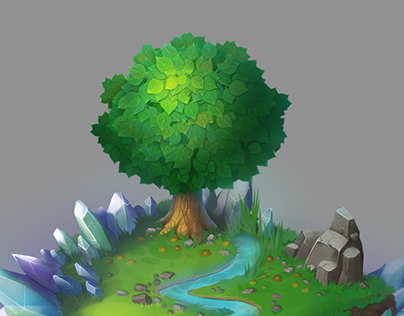 An isometric game location