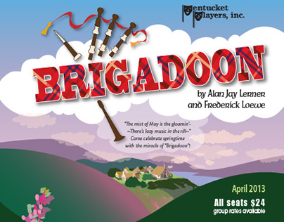 Brigadoon Set Design, Painting, Graphics, Props