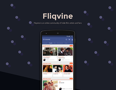 Fliqvine mobile app