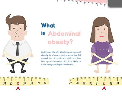 Abdominal obesity - Calendar for office worker
