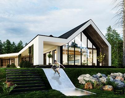 HOUSE SUSPENDED SK-ARCHITEKCI