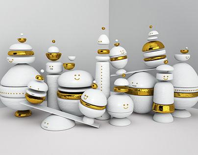 Animated Happy Figurines
