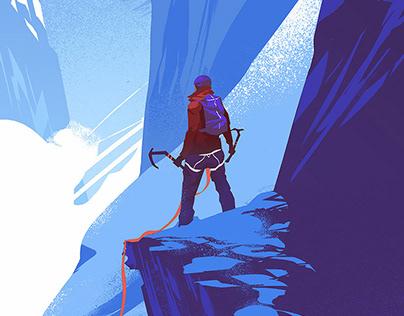 Alpinist Magazine Illustration