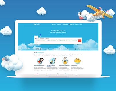 Biletsepeti Travel Booking Website Design - 2018