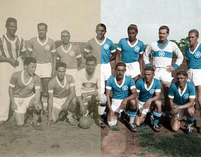 Photo Colorization - Grêmio Esportivo Militar 1945