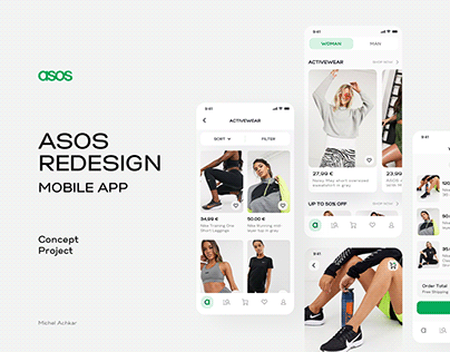 Asos Shopping Mobile App UI Redesign Concept