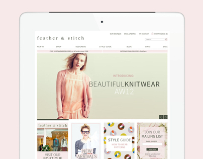 Feather & Stitch website design