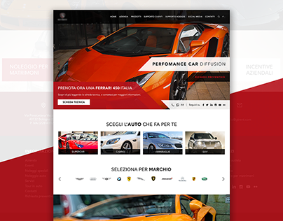 Car Rental Website Concept