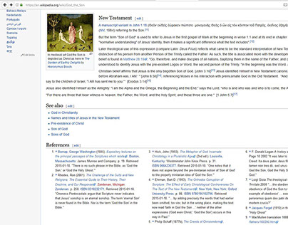 """""""God the Son"""" article contributor and editor wikipedia."""