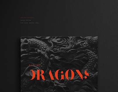 Various Dragons. Cover design for Local Raider Label.