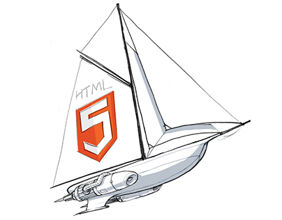 'Flying Yacht' desktop icon concept development