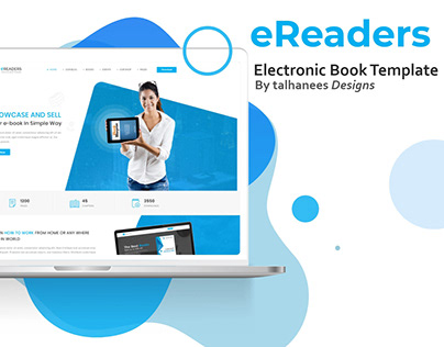 e-Readers   Electronic Book Template Website