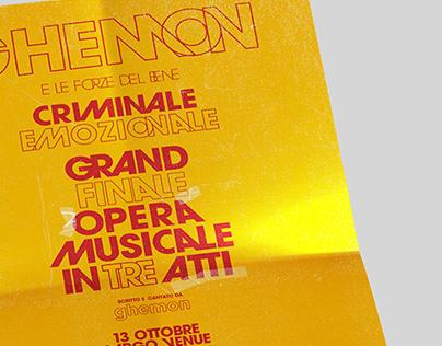Ghemon — Criminale Emozionale Poster Design