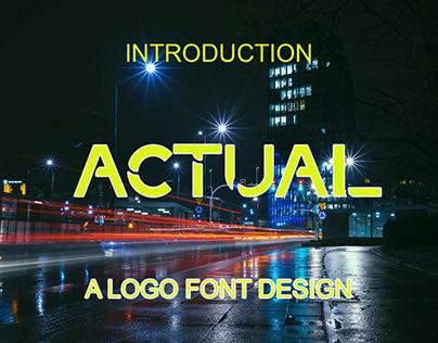 Actual Font San serif