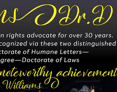 Congratulations Dr. D - Bay State Banner Ad