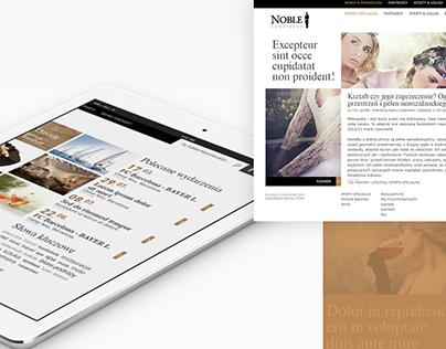 Noble Concierge / Website concept design