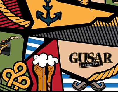 Branding. Gusar brewery