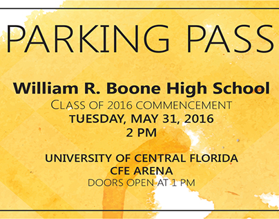 Class of 2016 Parking Passes