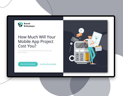 Cost Calculator- Web & Mobile Design