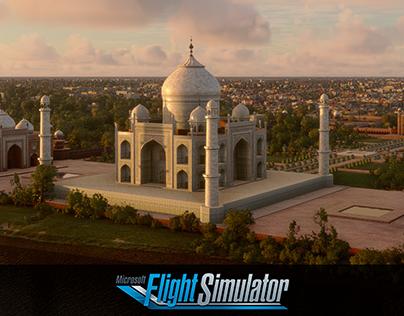Taj Mahal Microsoft Flight Simulator