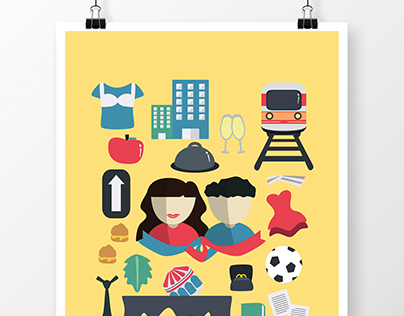 For the Love of French Films: Poster Illustrations