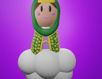 Virgen María 3D